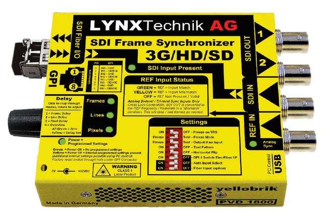 yellobrik 3Gbit SDI Frame Synchronizer PVD1800