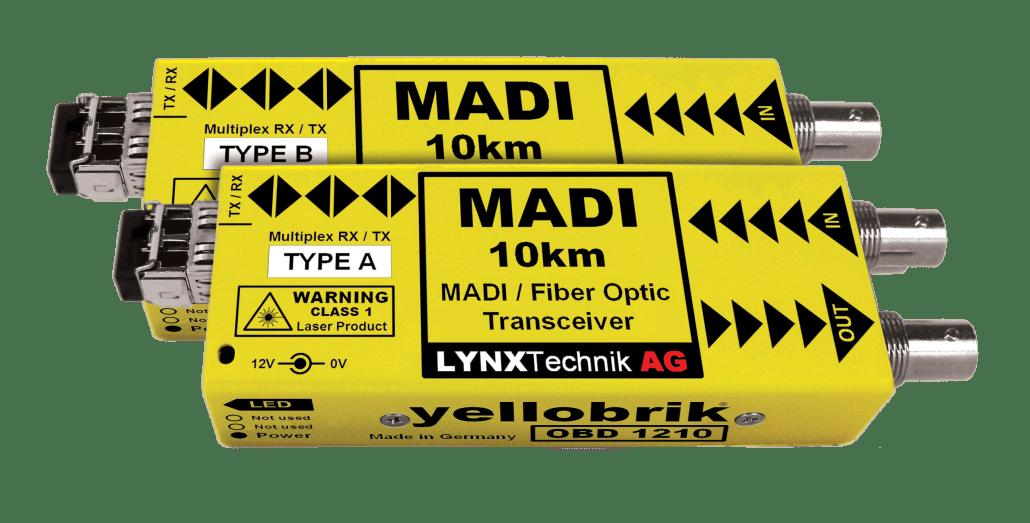 yellobrik - MADI fiber converter - OBD1210