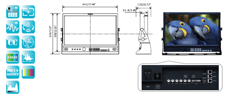 ViewZ VZ-181N & VZ-181RN Monitor