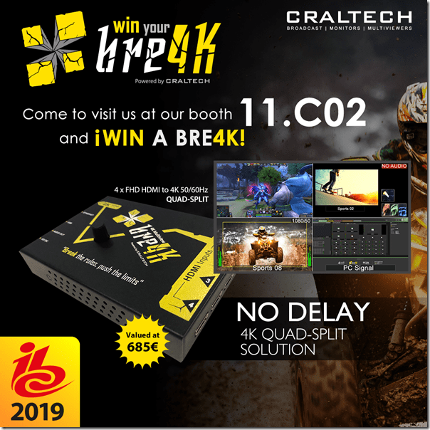 Craltech bre4K to win at IBC - TEVIOS